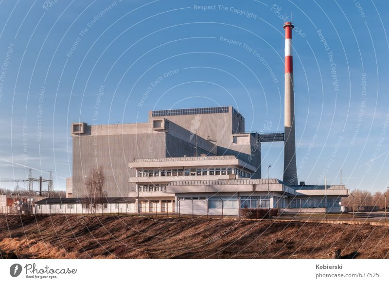 Atomkraftwerk Zwentendorf Arbeitsplatz Energiewirtschaft Kernkraftwerk Architektur außergewöhnlich groß blau braun grau Angst Stress bedrohlich