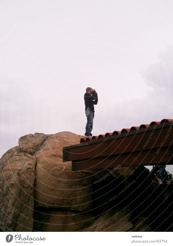 Der Fotograf Dach grau Sucher Felsen photoriegger Ferne Porto alvaro siza