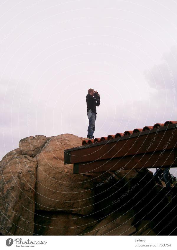 Der Fotograf Ferne grau Suche Felsen Dach Sucher Porto