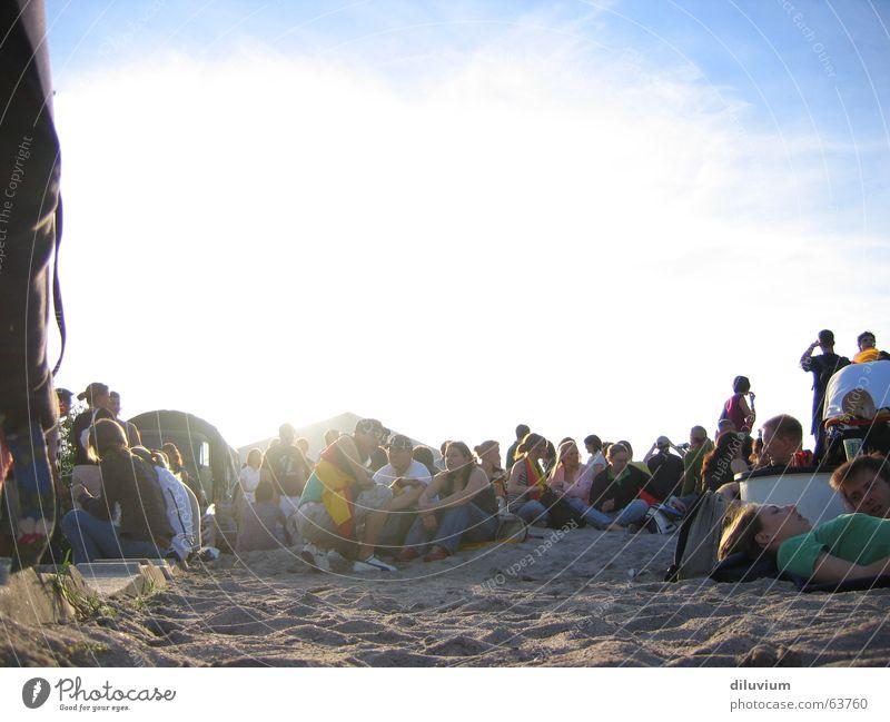 zollhofgarten Mensch Himmel Sand Party Feste & Feiern Zusammensein mehrere