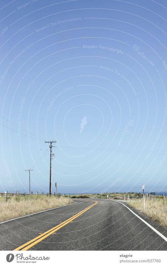 California State Route 1 Horizont Sommer Schönes Wetter Sträucher Küste Meer california  route 1 big sur Stars and Stripes Nordamerika Amerika Autofahren Straße
