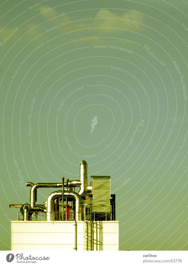 alles neu macht der Mai - hallo Reinhard Fabrik Ausgabe Aktien Lüftung Abluft glänzend Arbeit & Erwerbstätigkeit Arbeitsplatz Stellenabbau Industriefotografie