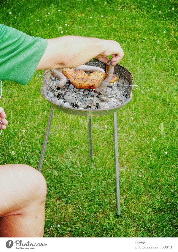 Ich weiß was du letzten Sommer gegrillt hast Ferien & Urlaub & Reisen Wiese Ernährung Garten Beine Park Feste & Feiern Zufriedenheit Freizeit & Hobby Arme Bier