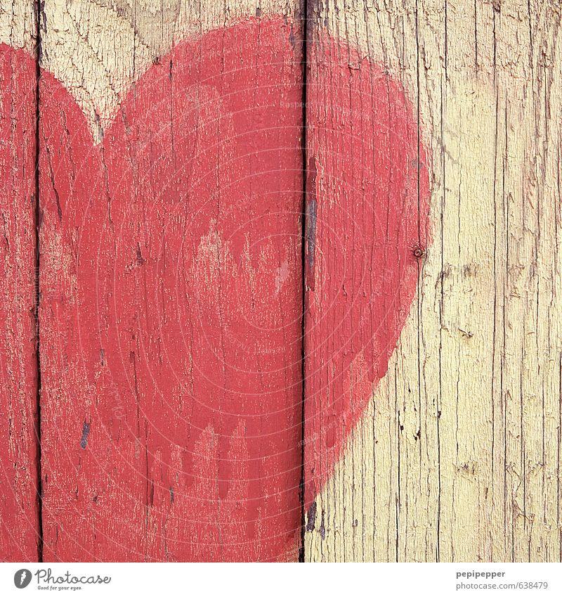 vor hof flimmern rot gelb Graffiti Wand Gefühle Liebe Mauer Holz Kunst Freundschaft Fassade Herz Streifen Zeichen Jugendkultur Gemälde