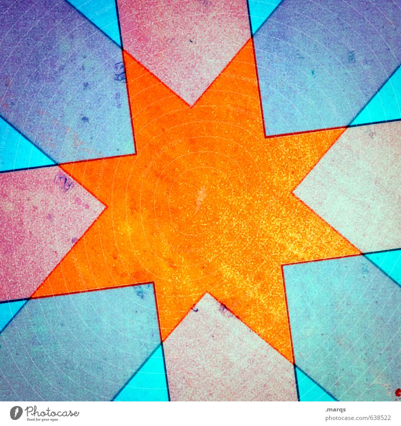 Be my Star Lifestyle elegant Stil Design Metall Zeichen Stern (Symbol) leuchten außergewöhnlich Coolness hell trendy einzigartig verrückt blau orange rot Farbe