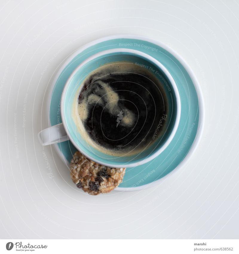 Wachmacher blau Gefühle klein Stimmung Lebensmittel Getränk Kaffee stark Süßwaren Müdigkeit Geschirr Tasse Keks Erfrischungsgetränk Espresso Kaffeepause