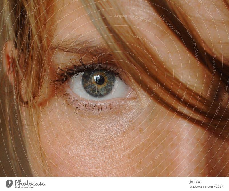 me Frau Auge Haare & Frisuren Sommersprossen Pupille Blick