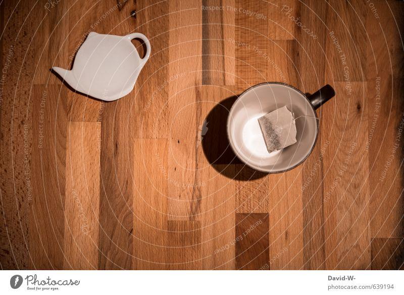 Teatime Einsamkeit Erholung ruhig kalt Holz Gesundheit braun orange Getränk Pause Küche Erkältung Krankheit heiß Tee harmonisch