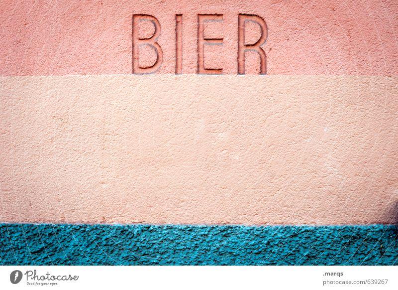 Feierabend Wand Mauer Feste & Feiern Schriftzeichen Kommunizieren einfach Bier Alkohol