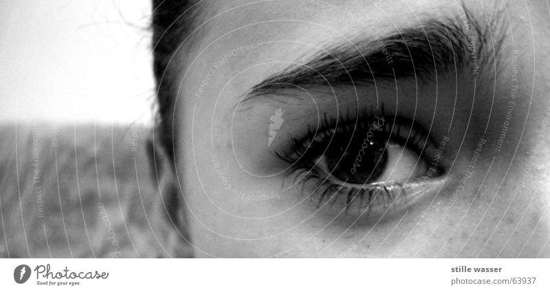 AUGENWEIDE Augenbraue Trauer Denken Frau Mädchen Verzweiflung Makroaufnahme Nahaufnahme Jugendliche ich sehe dich Traurigkeit eye eyes