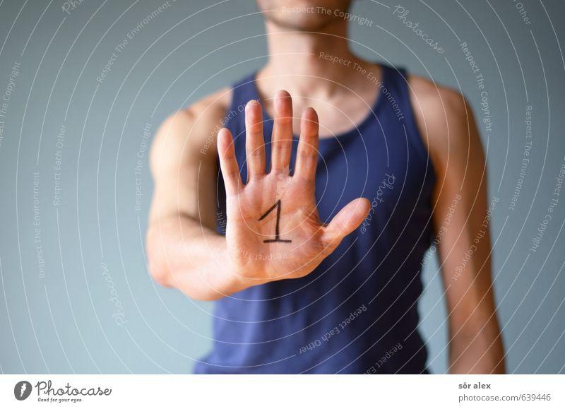TOP Mensch Mann Hand Erwachsene Sport 1 maskulin Business Kraft Erfolg Finger Fitness Ziffern & Zahlen Ziel Sport-Training Karriere