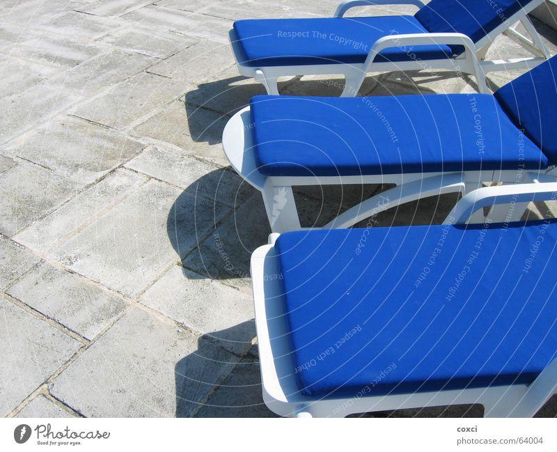 On sunday Schwimmbad Tanzfläche Erholung chair blue