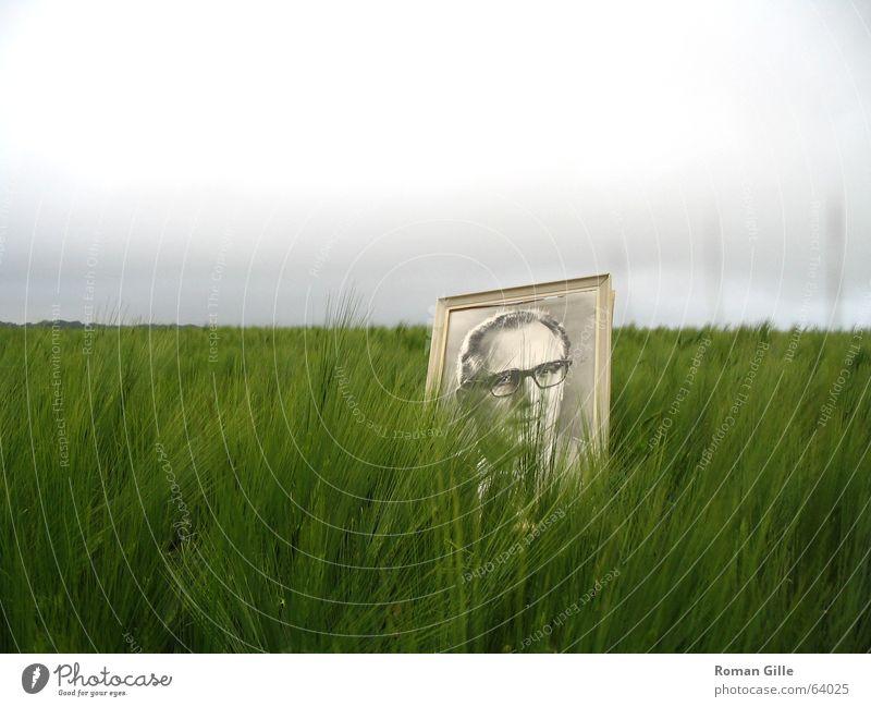 Planwirtschaft Himmel grün Wolken Einsamkeit grau Landschaft Feld Deutschland Bild DDR Rahmen Bilderrahmen schlechtes Wetter Präsident