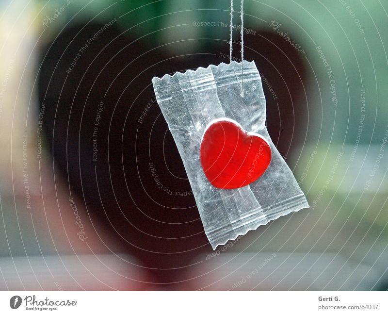 SweetHeart rot Freude Gefühle Liebe Dekoration & Verzierung Ernährung Herz süß Schnur Schutz Süßwaren hängen Bonbon Liebeskummer Zucker verpackt