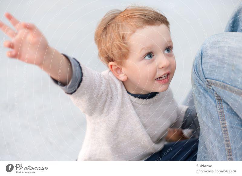 256 [noch mal!] Freizeit & Hobby Kinderspiel Kindererziehung Junge Familie & Verwandtschaft Kindheit Leben 1 Mensch 3-8 Jahre Schönes Wetter Pullover rothaarig
