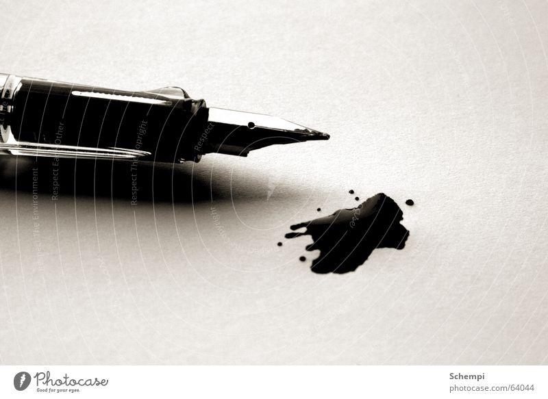 Schreibblockade Fleck Schreibgerät Tinte Füllfederhalter
