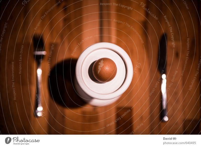 Mahlzeit Lebensmittel Eierschale Eierbecher Hühnerei Ernährung Essen Frühstück Vegetarische Ernährung Diät Fasten Besteck Messer Gabel Gesunde Ernährung Fitness