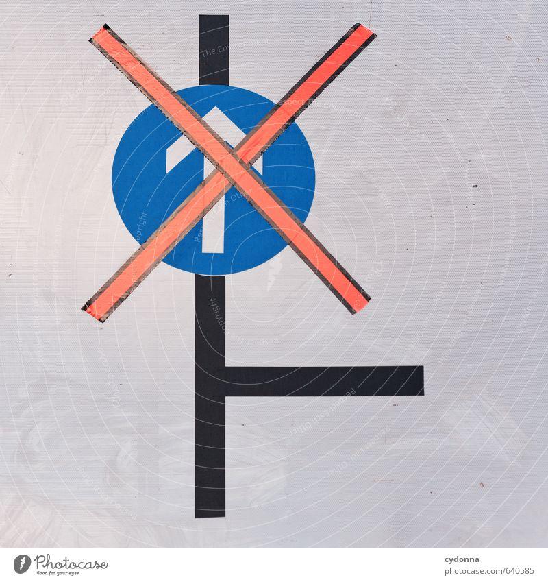 Da nicht lang Bildung Baustelle Verkehrswege Straßenverkehr Zeichen Schilder & Markierungen Hinweisschild Warnschild Verkehrszeichen Pfeil Beratung Ende