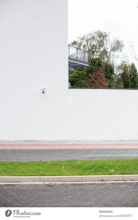 L. Himmel Stadt grün weiß Pflanze Baum Haus Wand Straße Wiese Wege & Pfade Gras Mauer Linie Garten Wohnung