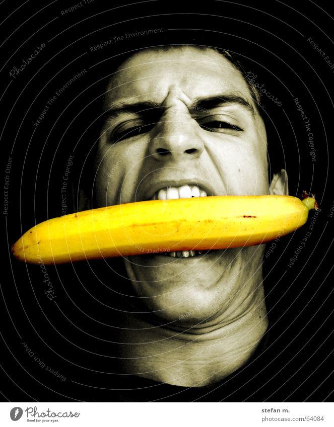 banane Gesicht Ernährung Essen Wildtier Appetit & Hunger tierisch böse Banane