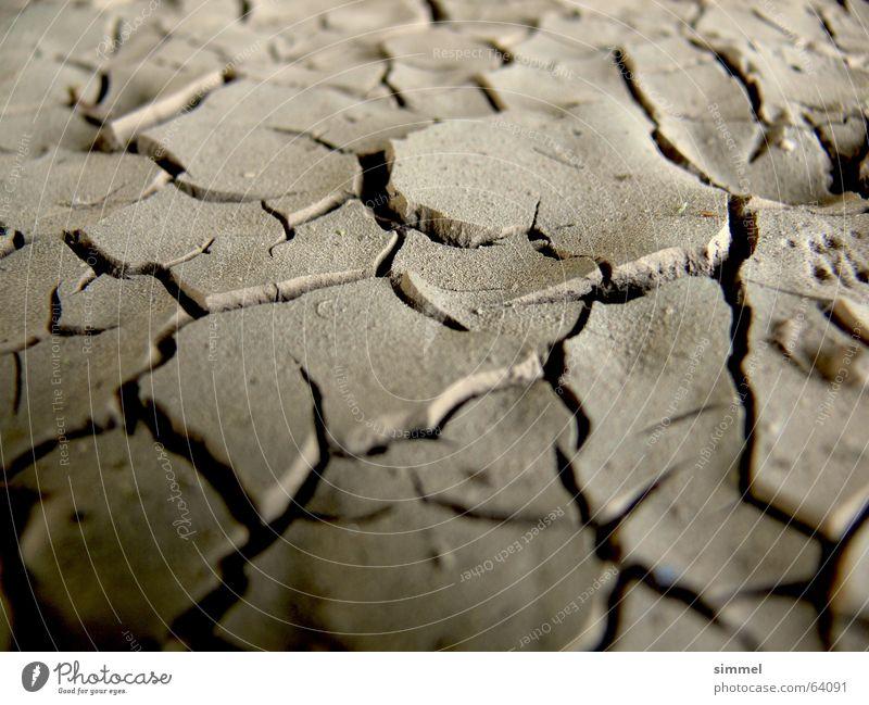 Staubtrocken! dreckig Erde Bodenbelag Wüste Riss