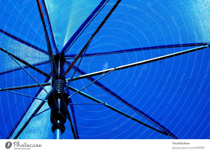 Schattenspender Sonnenbad Sommer Meer Wiese Gras Gestell Aluminium Regenschirm liegen blau