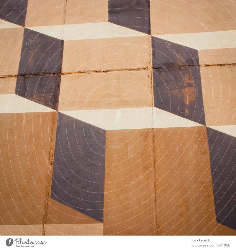 Knick in der Optik Wissenschaften Fortschritt Zukunft Straßenkunst Brandmauer Dekoration & Verzierung Beton Ornament Strukturen & Formen eckig fest modern