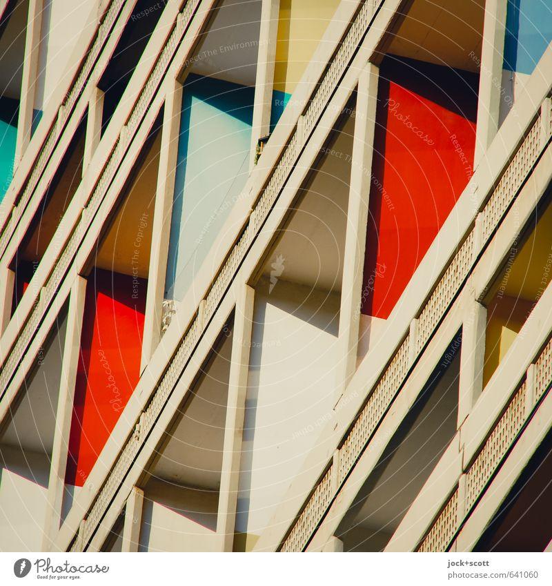 Unité Architektur Stil Linie Fassade Häusliches Leben elegant Design modern ästhetisch Beton Lebensfreude retro Kultur Balkon Sehenswürdigkeit nachhaltig