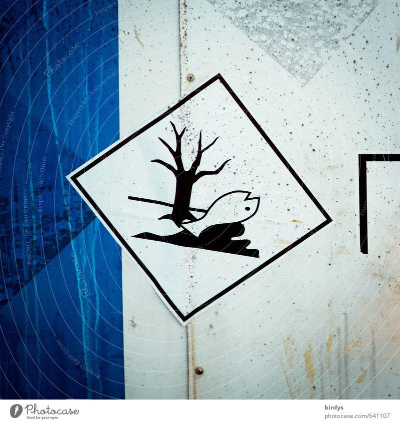 Bedenkliche Inhaltsstoffe Industrie Chemieindustrie Zeichen Schilder & Markierungen Hinweisschild Warnschild authentisch gefährlich Stress Risiko
