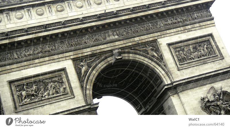 Siegerbogen (ungelogen) Paris Erfolg Frankreich Kunst Wahrzeichen Bauwerk Bogen france arc triomphe Sehenswürdigkeit Baustelle Architektur