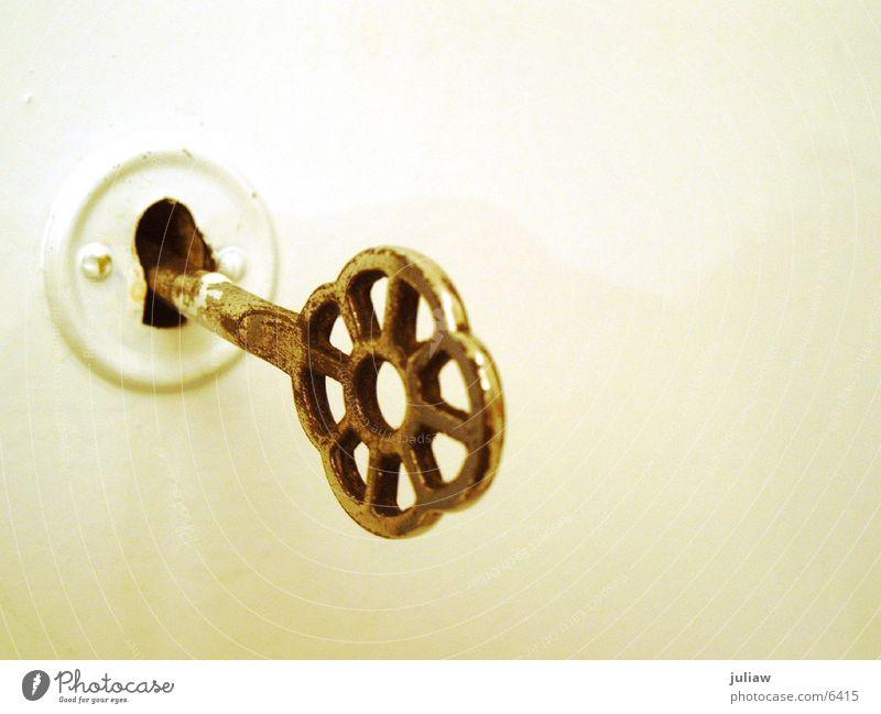 Geheimnis Tür Häusliches Leben Burg oder Schloss Schlüssel Messing