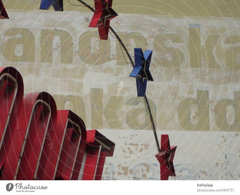 stars in novi sad blau Stadt rot Wand Stern Schriftzeichen Stern (Symbol) Zeichen Starruhm Serbien