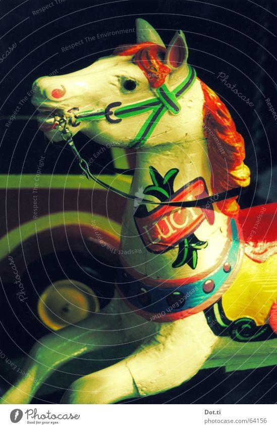 Lovely Lucy Pferd Karussell Karussellpferd Kinderkarussell Fahrgeschäfte Jahrmarkt Feste & Feiern Nostalgie alt altmodisch retro Holz Farbe mehrfarbig bemalt
