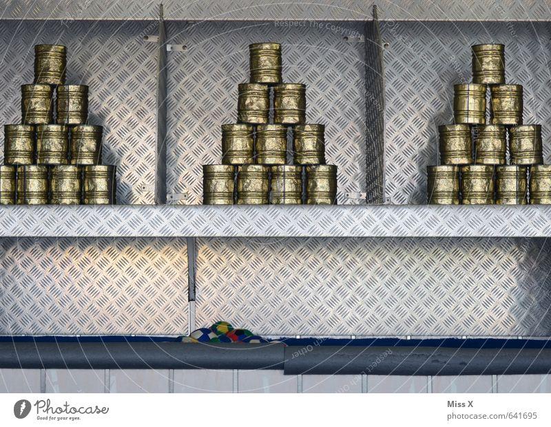 Unzerstörbar Freizeit & Hobby Spielen Jahrmarkt Sportveranstaltung Erfolg Verlierer Dose Metall werfen silber dosenwerfen wurfspiel Glücksspiel Buden u. Stände