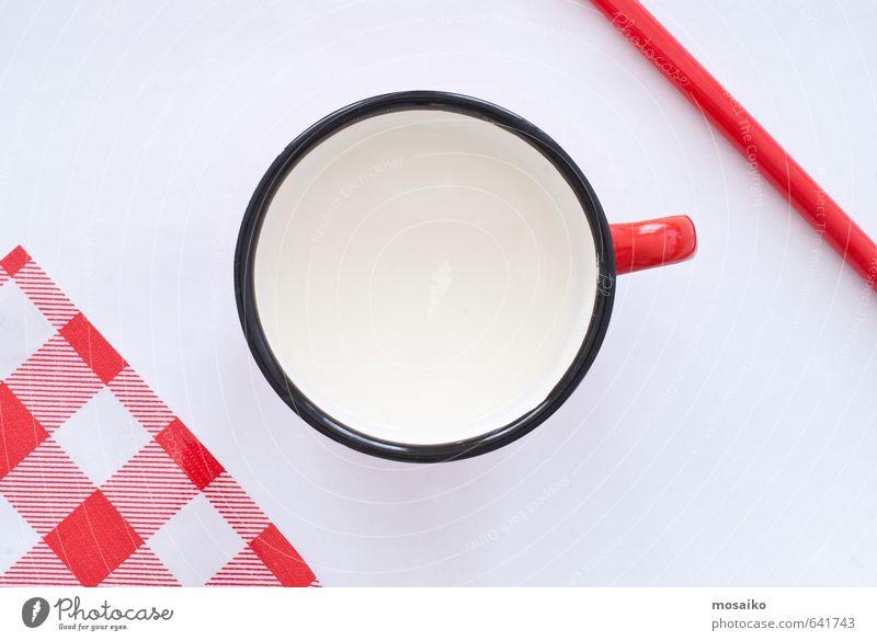 Kind weiß rot schwarz Kindheit Design Ernährung Tisch einfach Sauberkeit Küche Gelassenheit Frühstück Tradition Top kariert