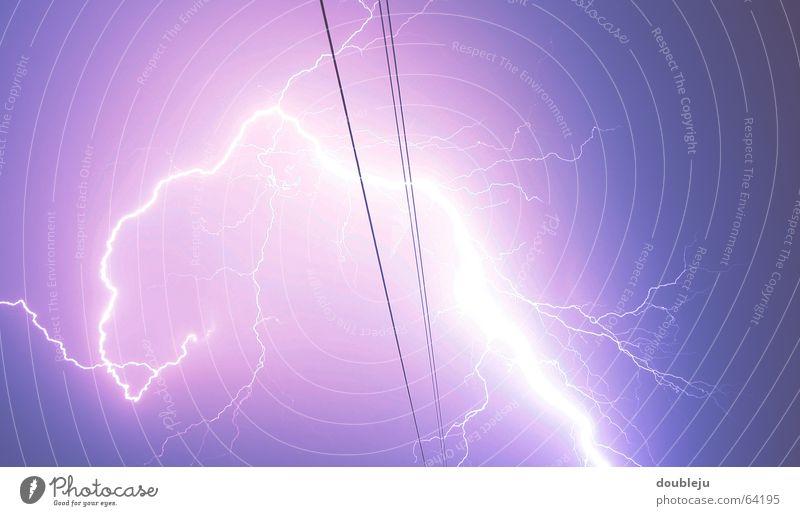 blitzschuss Himmel Energiewirtschaft Elektrizität Blitze Momentaufnahme