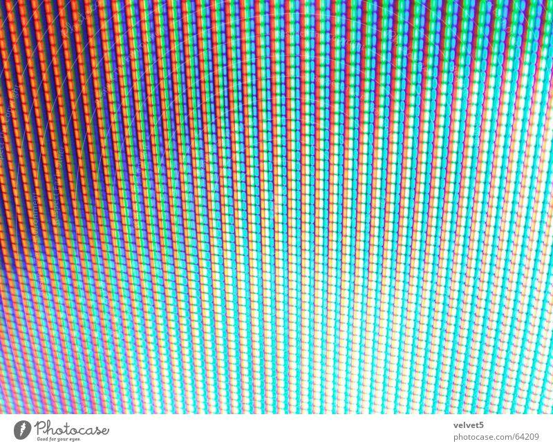 screen Fernsehen Bildpunkt blue red