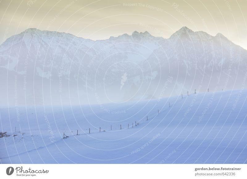 Morgenstunde Ferien & Urlaub & Reisen Ausflug Ferne Freiheit Winter Schnee Winterurlaub Berge u. Gebirge wandern Landschaft Sonnenaufgang Sonnenuntergang Wetter