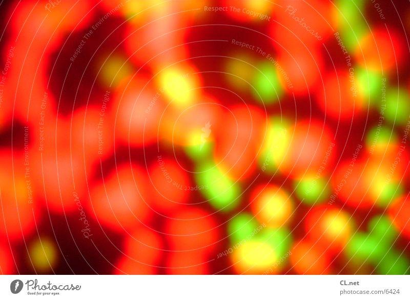Lichtspiel 3 Lampe grün schwarz Stil Langzeitbelichtung orang Punkt
