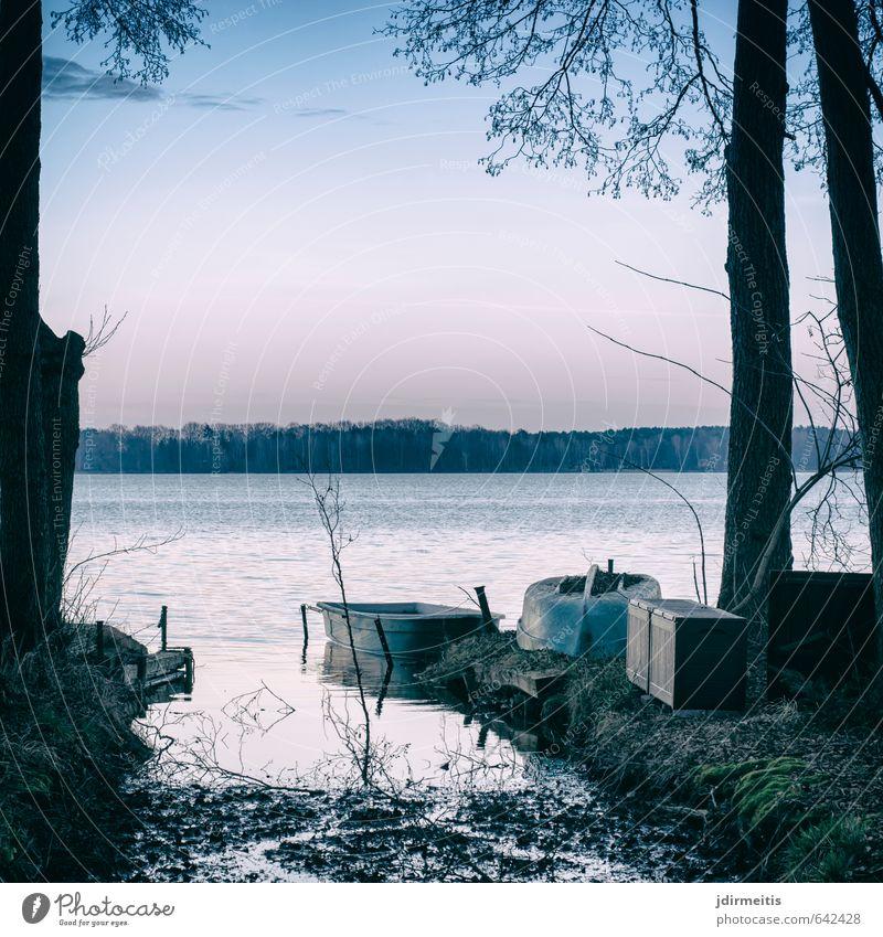 Hintersee Freizeit & Hobby Angeln Ferien & Urlaub & Reisen Wassersport Natur Landschaft Himmel Sonnenaufgang Sonnenuntergang Baum Gras Seeufer Bach Fischerboot