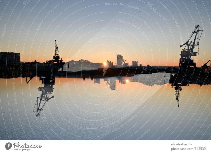 Orientierung | Verloren Ferien & Urlaub & Reisen Abenteuer Expedition Industrie Maschine Wolkenloser Himmel Sonne Sonnenaufgang Sonnenuntergang Sonnenlicht