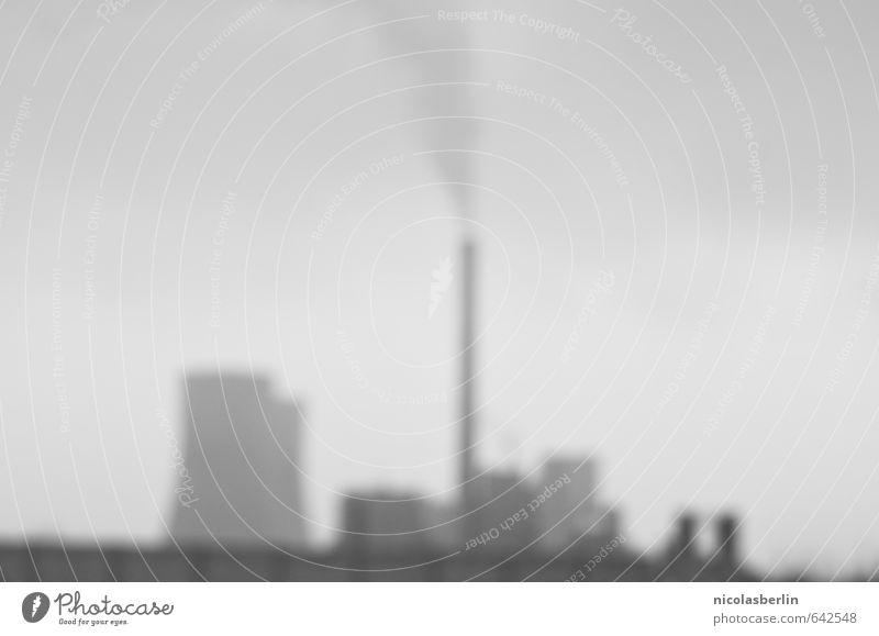 Energiewende dunkel kalt grau Angst bedrohlich Elektrizität Industrie Kabel Ende gruselig Rauch Verkehrswege Stress Schornstein stagnierend