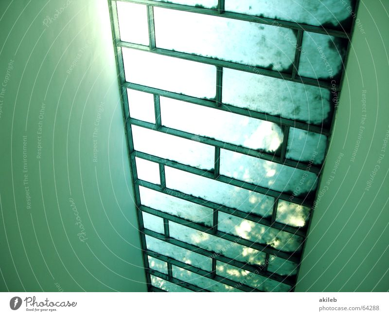 Dach Sonne grün Fenster hell Hoffnung