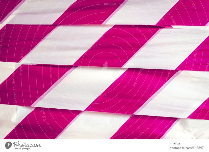 Kariert Lifestyle elegant Stil Design Kunststoff Linie Streifen Coolness rosa weiß Ziel kariert Hintergrundbild Farbfoto Außenaufnahme Nahaufnahme abstrakt