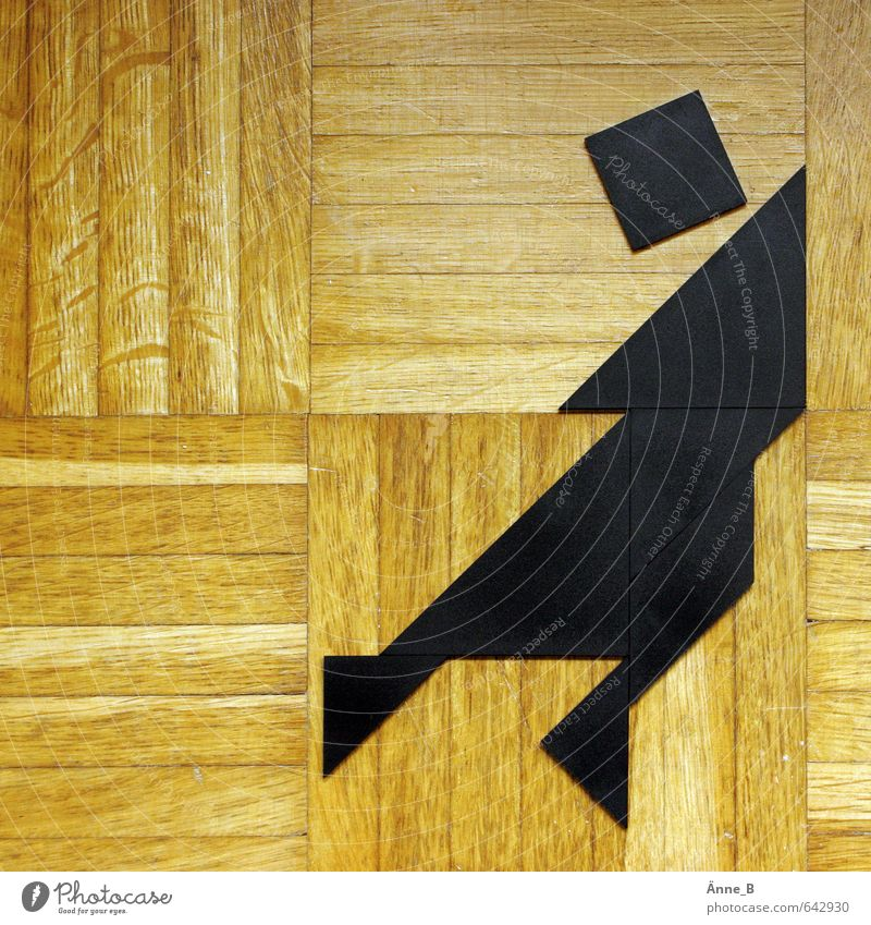 Ch'i Ch'ae pan Mensch Kunst Spielzeug Figur Tangram chinesisches Legespiel Puzzle Siebenbrett Siebenschlau Geduldsspiel Holz Kunststoff Zeichen Ornament Linie