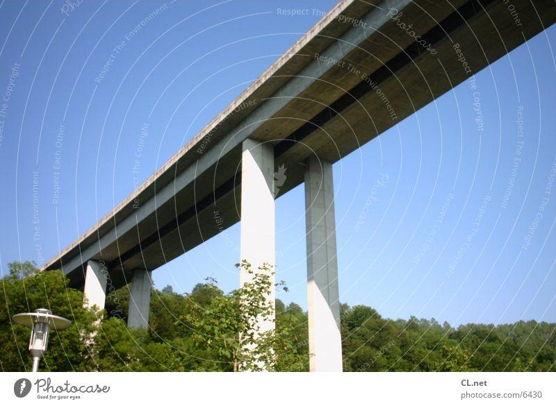 Autobahnbrücke Landschaft Beton Verkehr Brücke