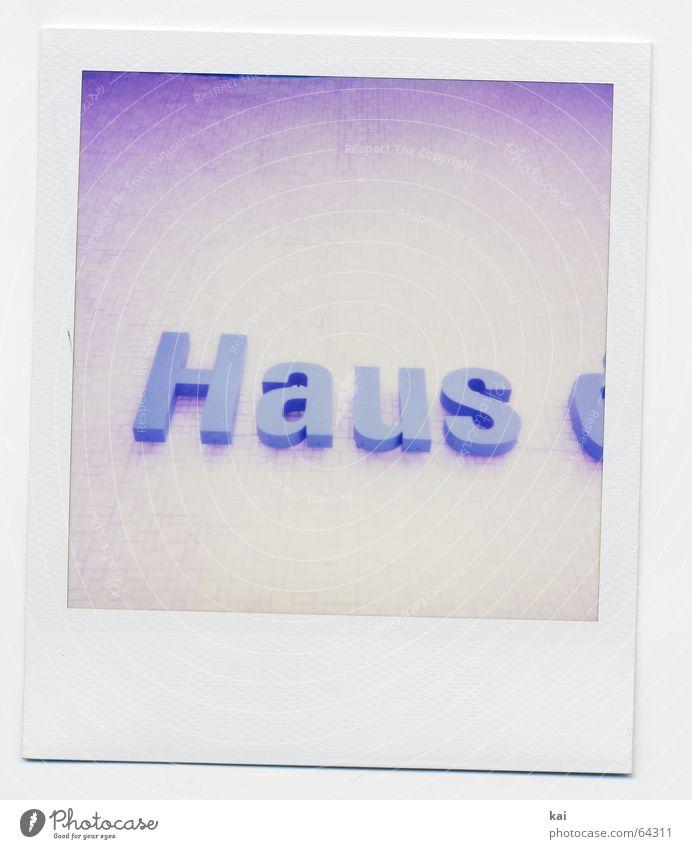 Berlin Alexanderplatz III Polaroid Haus retro Schriftzeichen Vergangenheit Nostalgie Schrifttafel