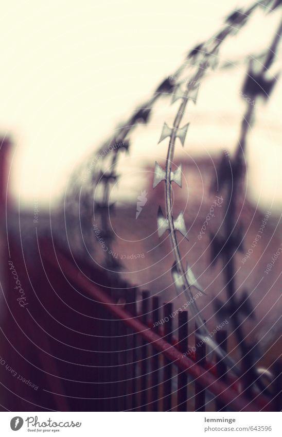 drahtzieher Industrieanlage braun silber Zaun Stacheldraht Stacheldrahtzaun Zeche industriell Dortmund Farbfoto Gedeckte Farben Außenaufnahme Menschenleer Tag