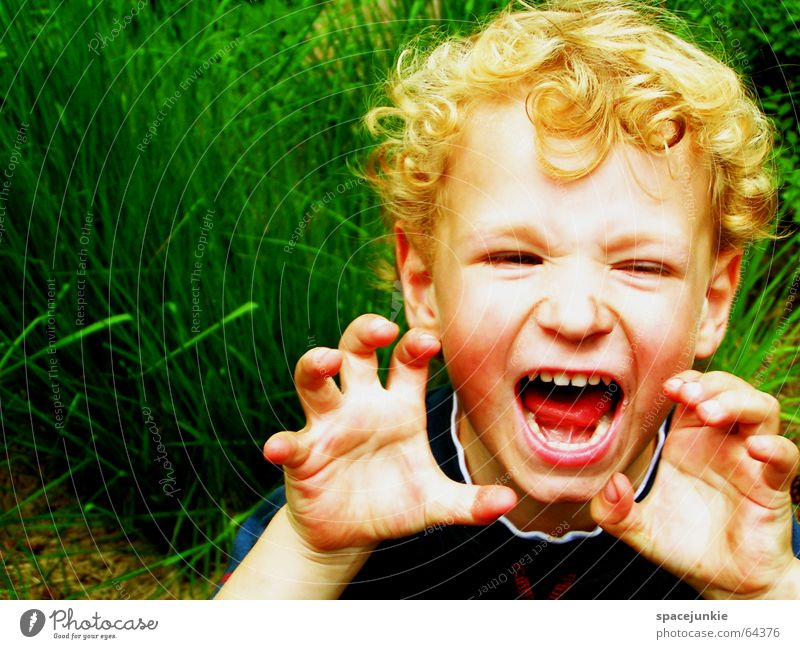 Justus macht Krawall (1) Kind Kleinkind schreien Spielplatz toben Spielen Wut erschrecken laut Gras böse Natur Freude
