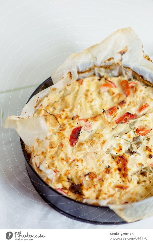 Quiche Lebensmittel Foodfotografie genießen Ernährung Kochen & Garen & Backen rund Küche dünn Gemüse Kräuter & Gewürze lecker Kuchen Backwaren Abendessen Diät